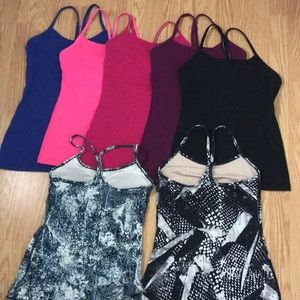 Lululemon power Y tank size 4 listing for 7 tanks